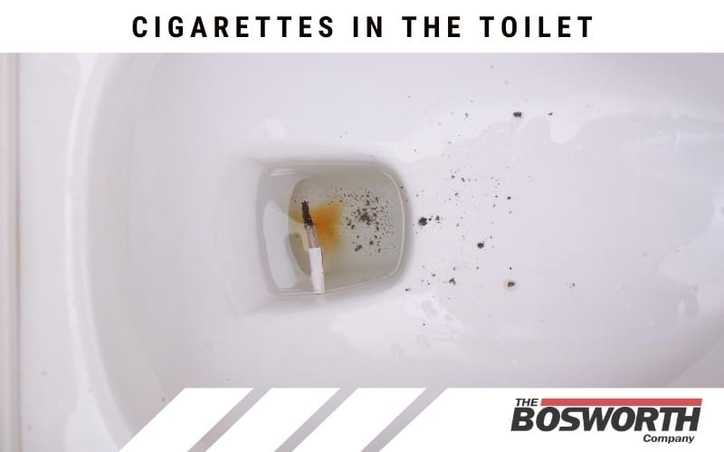 Cigarettes in the Toilet